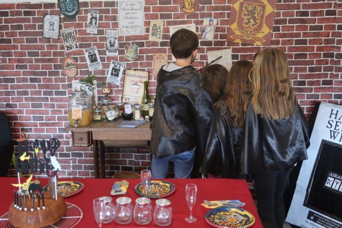 Cours de sortilèges fête d'anniversaire Harry Potter, animations anniversaire Harry Potter