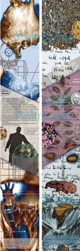 New information panels designed by Eleanor gates-Stuart for the CSIRO Discovery Centre - StellrLume Domes