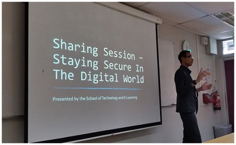 STEL Assist. Manager, Husaini sharing with us on Staying Secure in The Digital World