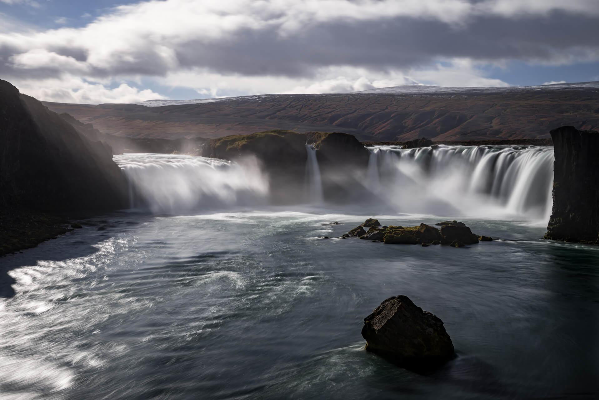 Island, Goðafoss, Oktober 2014