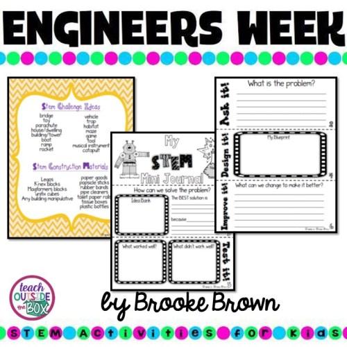 Quick Stem Challenge For Kids: STEM Mini Journal For Quick Challenges