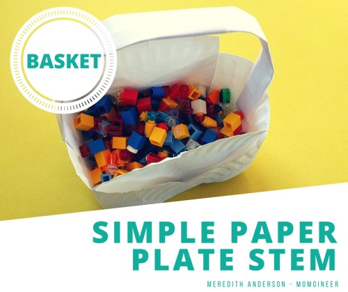 Simple Paper Plate STEM Basket Challenge