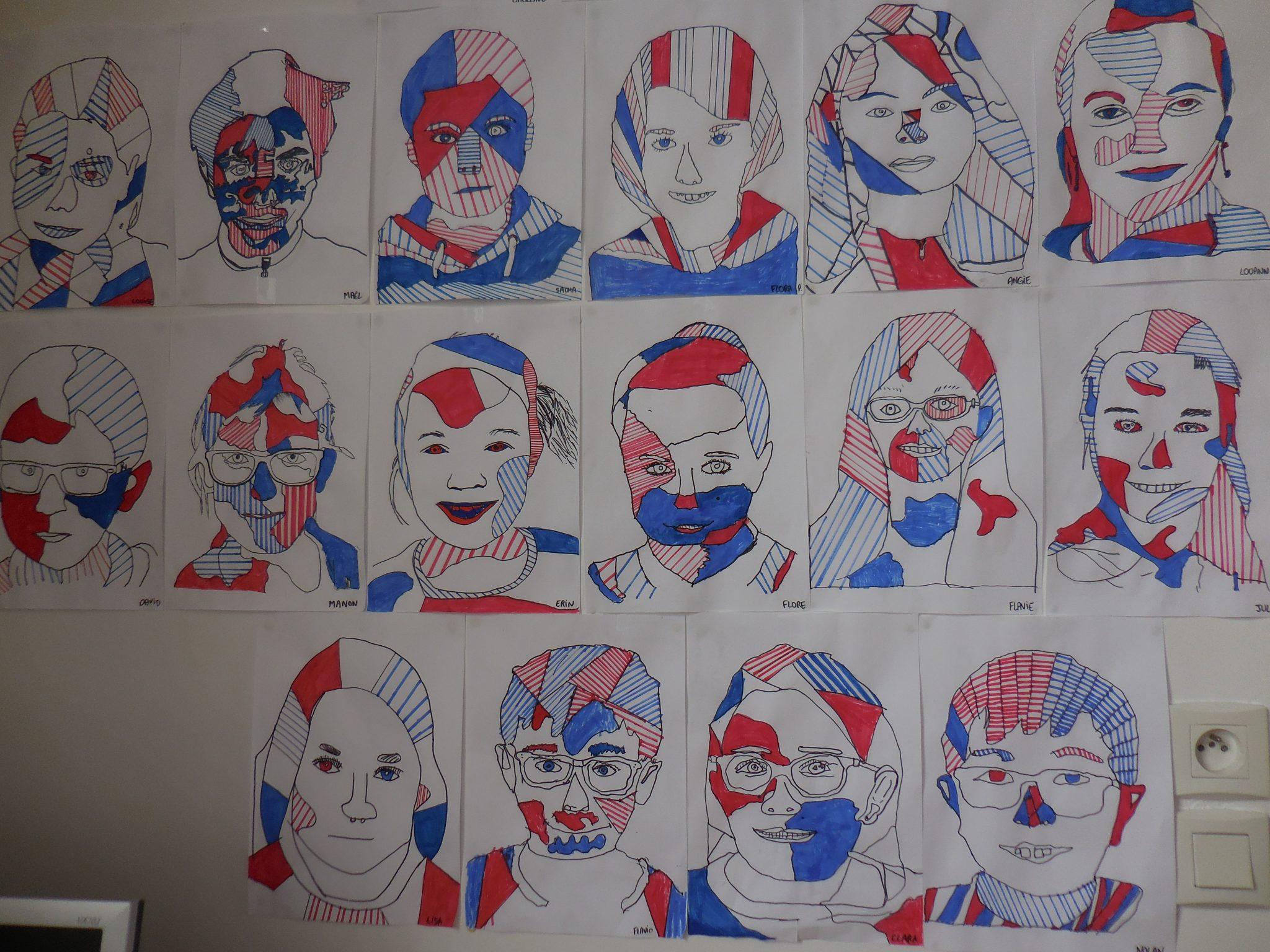 Les Portraits Des CM1 La Manire De Jean Dubuffet