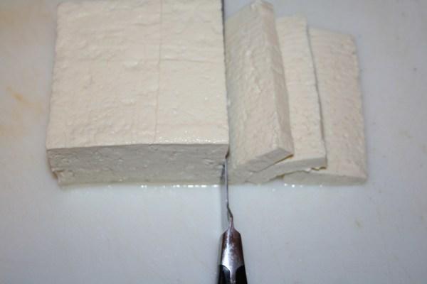 slice tofu