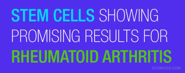 Stem Cells Showing Promising Results for Rheumatoid Arthritis