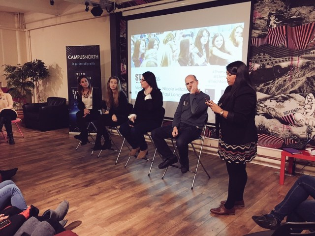 Our panel (l-r) - Tory Thorpe, Nicole Mitchell, Ruth Harrison, Paul Lancaster.