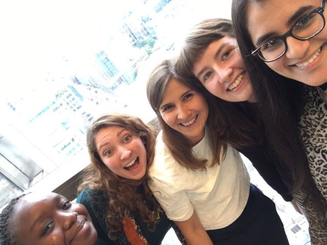 Having fun at the Student to Stemette matching event in Heron Tower, London