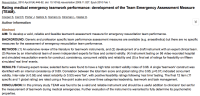 TEAM - Team Emergency Assessment Measure