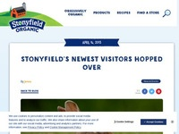 Stonyfield's Newest Visitors Hopped Over