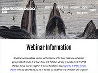Ocean Protection Advocacy Kids Live Webinars (Weekdays at 1 pm EDT)