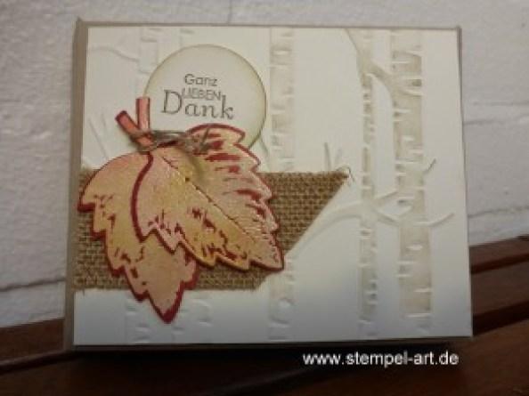 Herbstliche Schokoladenverpackung nach StempelART - quadratisch, praktisch, gut; Vintage Leaves (1)