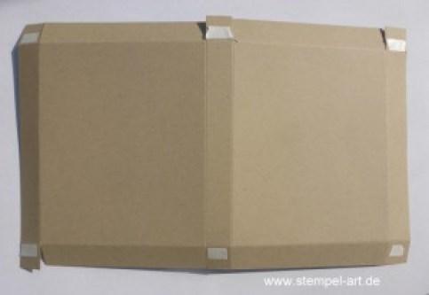 Herbstliche Schokoladenverpackung nach StempelART - quadratisch, praktisch, gut; Vintage Leaves (6)