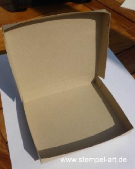 Herbstliche Schokoladenverpackung nach StempelART - quadratisch, praktisch, gut; Vintage Leaves (8)