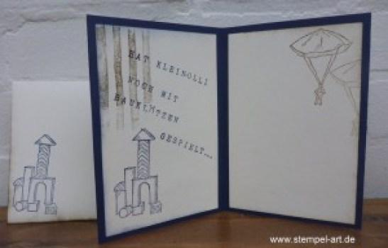 Boys Will Be Boys nach StempelART, Thinlits Projekt Life Papierclips, Brushstrokes
