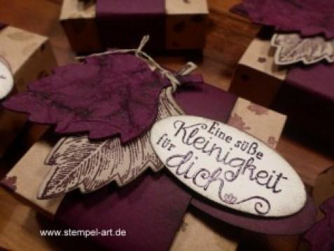 Hanuta Verpackung nach StempelART, Vintage leaves (5)