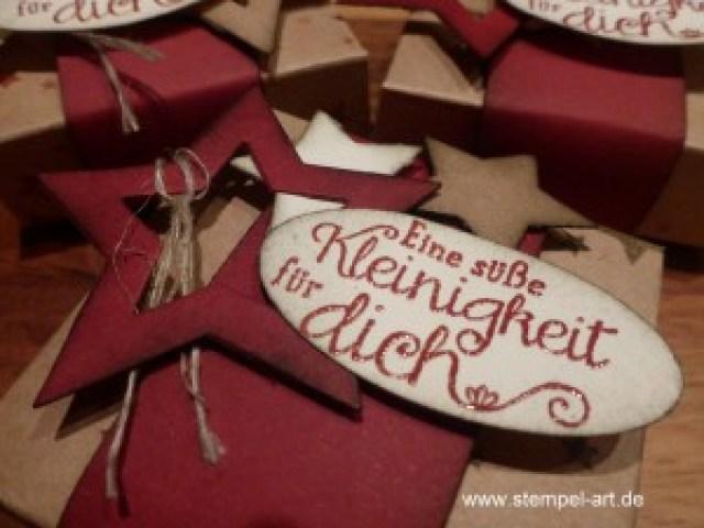 weihnachtliche Hanuta Verpackung nach StempelART, (7)