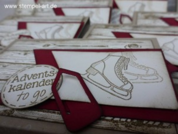 Adventskalender To Go nach StempelART, Winter Wishes, Hardwood, bebilderte Anleitung, Tutorial (7)