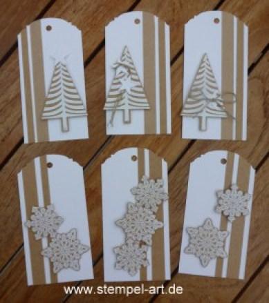 Stampin up Geschenkanhänger nach StempelART, eleganter Anhänger Stanze, Christbaumfestival, Tannenbaumstanze, Flockenzauber (4)