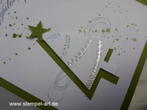 Weihnachtskarten Christbaumfestival Stampin up nach StempelART, Ein duftes Dutzend, Georgeous Grunge