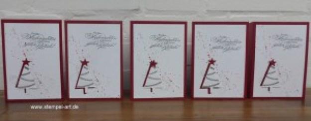Weihnachtskarten Christbaumfestival Stampin up nach StempelART, Ein duftes Dutzend, Georgeous Grunge  (5)