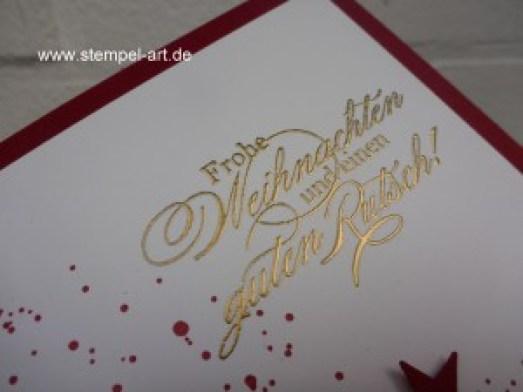Weihnachtskarten Christbaumfestival Stampin up nach StempelART, Ein duftes Dutzend, Gorgeous Grunge  (10)