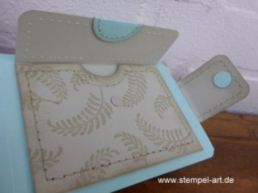 Stampin up Portemonnaie nach StempelART, Geldbörse, Geldgeschenk, Awesomely Artistic, Geschenk deiner Wahl, Große Zahlen, Faux Stitching Technique