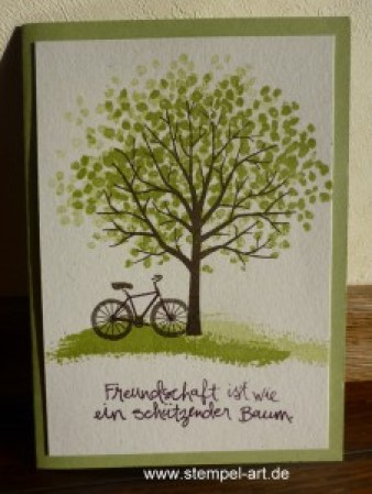 Stampin up Baum der Freundschaft nach StempelART