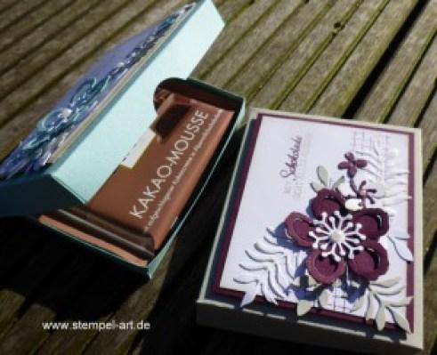 Botanischer Garten nach StempelART, Stampin up, Botanical Blooms, Pflanzen Potpourri, Timeless Textures, Schokoladenverpackung, Pizzaschachtel