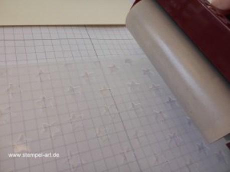 Tolle Technik! - Brayering Embossing Folders Technique nach StempelART, Stampin up, Vollkommene Momente, Framilts Teestunde, Leise rieselt, Timeless Textures, Glückssterne