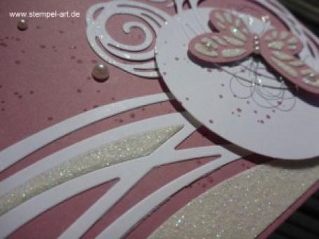 In Color 2016 - 2018 Zarte Pflaume nach StempelART, Stampin up, Wundervoll verwickelt, Schmetterling, Schmetterlinge, Gorgeous Grunge, Stanteil Negativ Technik