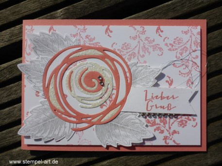 In Color Farben 2016 - 2018 Flamingorot nach StempelART, Stampin up, Wunderbar verwickelt, Timeless Textures, Paarweise, Vintage Leaves, Laub