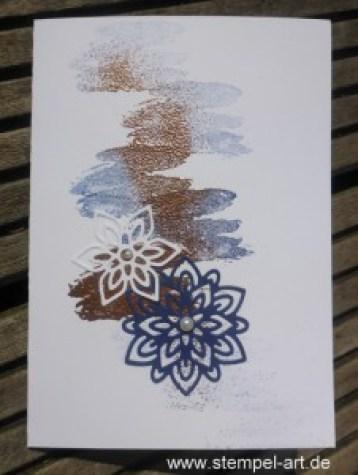 Kupferkunst nach StempelART, Stampin up, Grüße voller Sonnenschein, Blütenpoesie, Blühende Worte