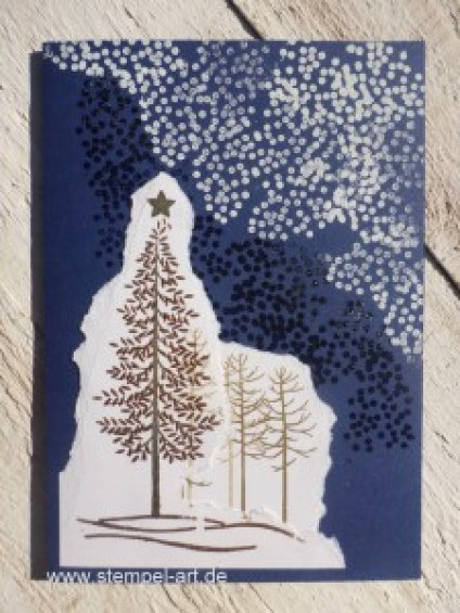 Wald der Worte nach StempelART, Stampin up, Weihnachten, Paper Tearing Technique