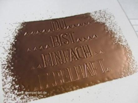 Faux Metal Technique nach StempelART, Stampin up, Metall Imitat Technik, bebilderte Anleitung, Tolle Technik, Wunderbare Worte, Embossing