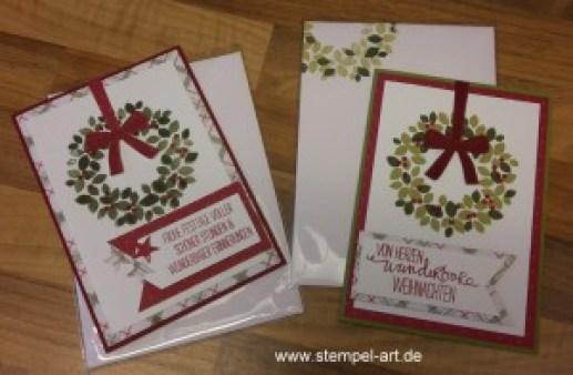 Stampin up Weihnachtskarte nach StempelRT, Willkommen Weihnach