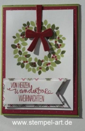 Stampin up Weihnachtskarte nach StempelRT, Willkommen Weihnacht