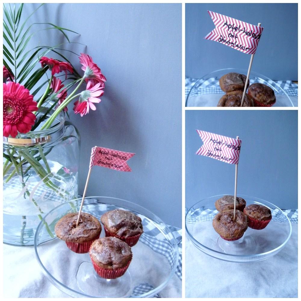 Apfel-Walnuss-Muffins mit Zimtglasur (1/2)