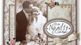 Bryllupskort med vintagebilder