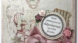 Dåpskort – rosa