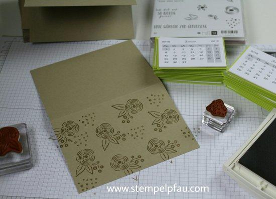 Kalenderkarten ganz einfach gemacht. Resteverwertung mit Stampin' Up!