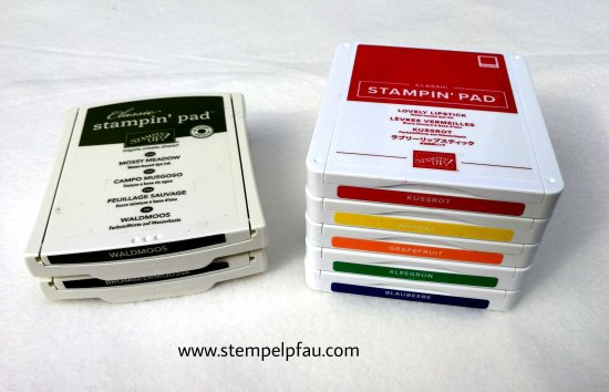 Stempelkissen von Stampin' Up! im Vergleich. Alt vs. Neu