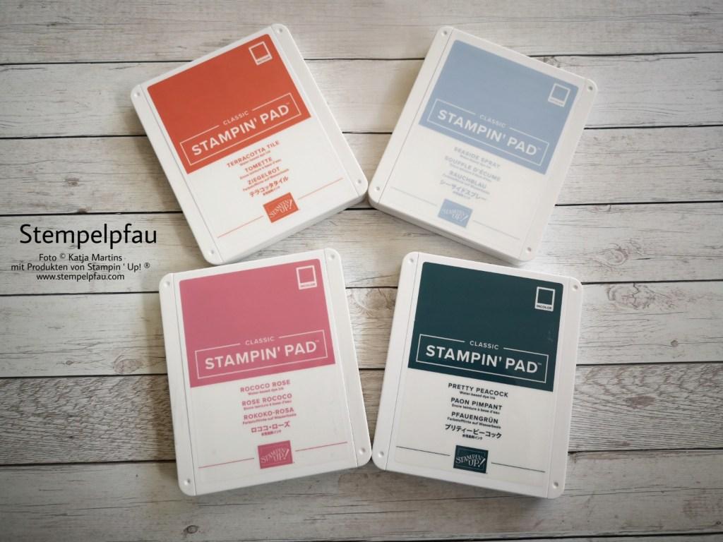 4 der neuen InColor Farben aus dem Jahreskatalog von Stampin' Up!