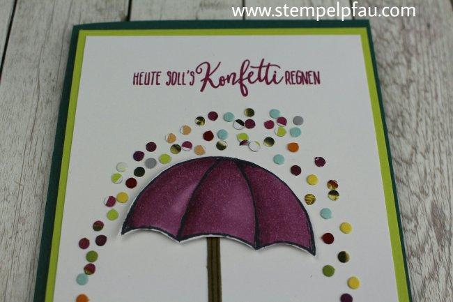 Heute soll es Konfetti regnen. Nach diesem Motto ist diese Karte entstanden.