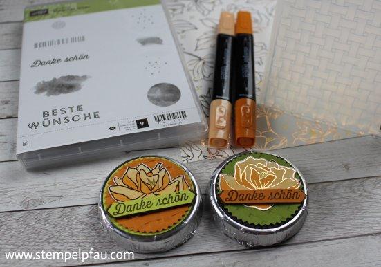 Kleine Goodies mit Sale-a-Bration Produkten aufgepimpt. Stampin' Up! macht soviel Spaß und man hat tolle Möglichkeiten kreativ zu sein.