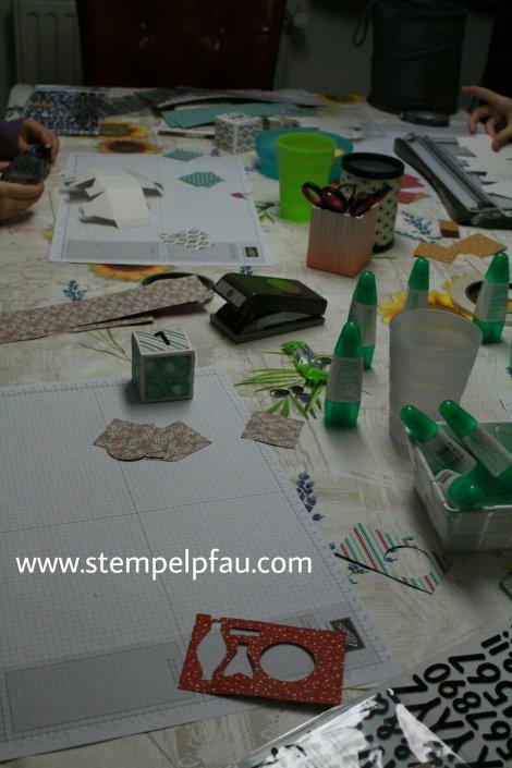 Kreativ mit Kids, Adventskalender basteln. Die Bastelkinder waren fleißig.