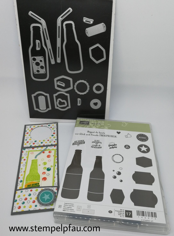 Schnelles Geburtstagsgeschenk ein Flaschenanhänger mit Produkten von Stampin' Up!