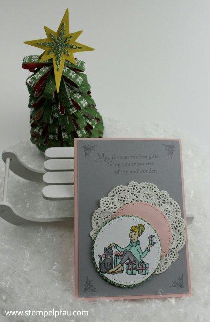 Weihnachtskarte mit dem Stempelset Christmas in the Making.