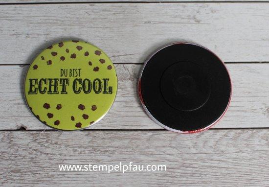 Button als Magnet trifft auf Stampin' Up!