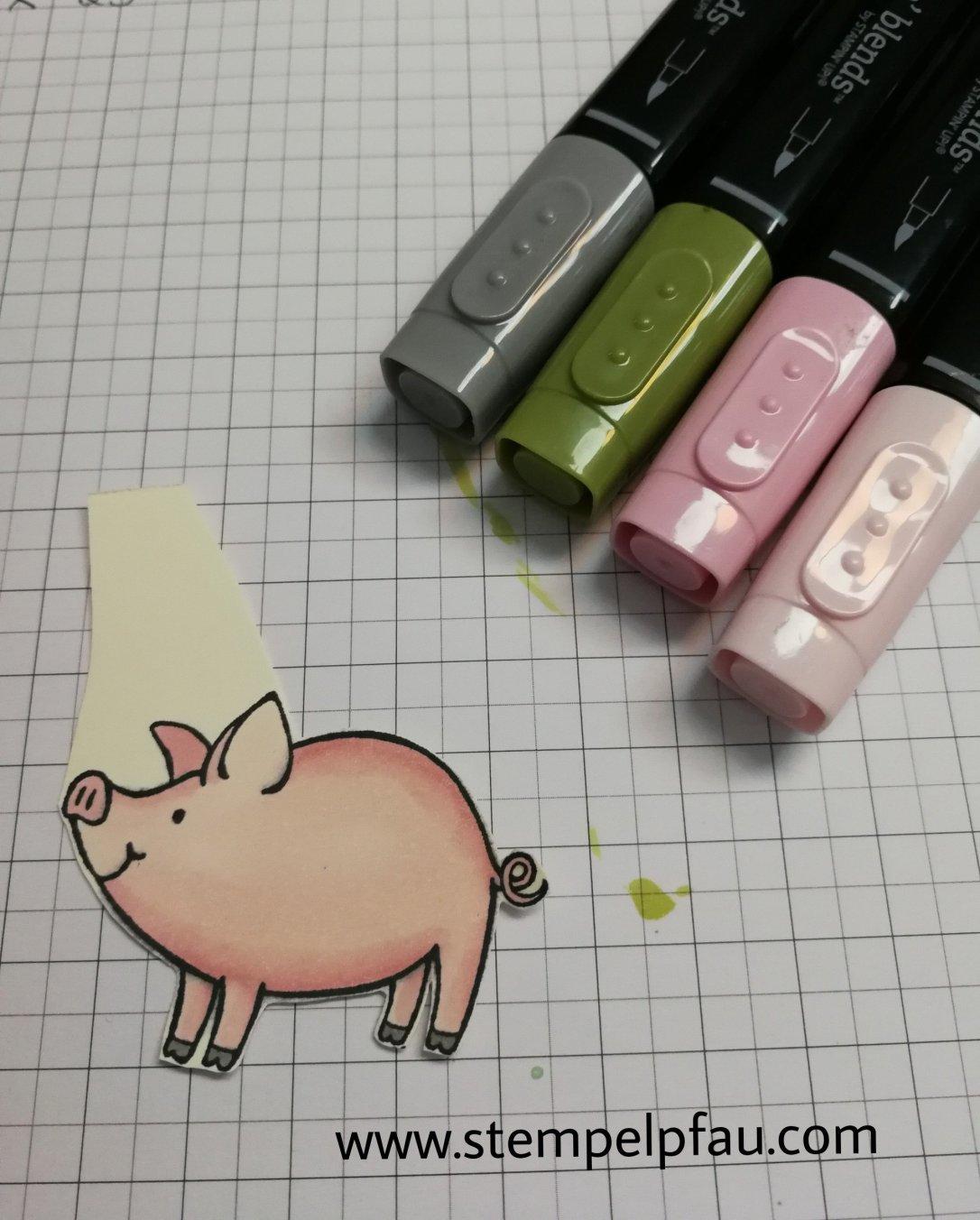 Schweinchen und Stampin' Blends von Stampin' Up!