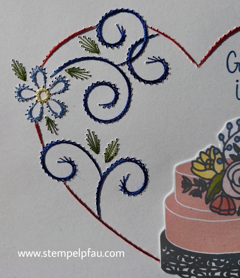 Fadengrafik - Hochzeitskarte
